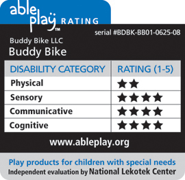 Click to view the Buddy Bike product listing at www.ableplay.org.